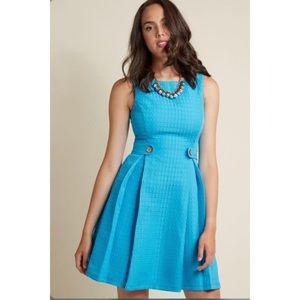 ModCloth Blue So Sixties A-line Dress